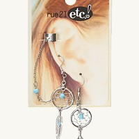 Dreamcatcher Cuff Earring Pair