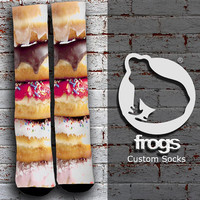 Donut stacked Elite Socks, Custom socks, Personalized socks