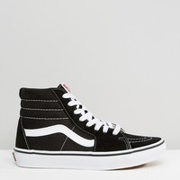 Vans Sk8-Hi Black And White Sneakers at asos.com
