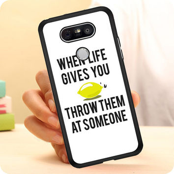 When Life Gives You Lemons LG G5 Case Planetscase.com
