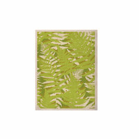 "Jacqueline Milton ""Fun Fern - Green"" Green Floral KESS Naturals Canvas (Frame not Included)"