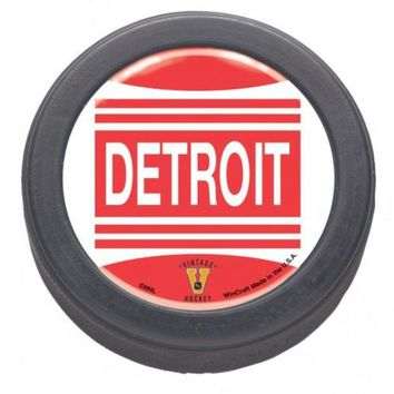 DCCKG8Q NHL Detroit Red Wings Vintage Domed Hockey Puck