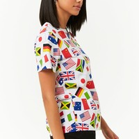 World Flags Graphic Tee
