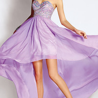 Strapless Sweetheart High Low Dress by Alyce