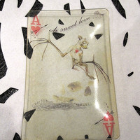Aces Bat and Skull Glass Tray