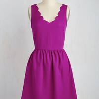 Mid-length Sleeveless A-line Reliably Blithe Dress in Orchid