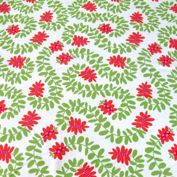 Michael Miller Cotton Quilting Fabric  Meandering Vines in Orange  1 Yard