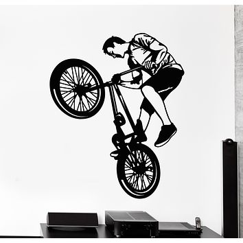 Vinyl Wall Decal Bike Sport Freestyle Bicycle Decor Stickers Mural (g199)