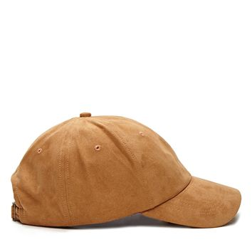 Men Faux Suede Cap