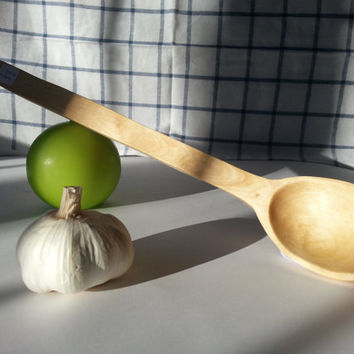 Wooden spoon. Hand carved spoon. Birch spoon, Kitchen spoon, Spoon for everyday use, Chef spoon, Housewifes spoon, wood spoon