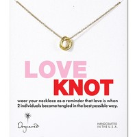 Dogeared Gold Love Knot Necklace, 18""