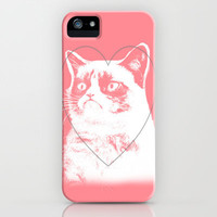 grumpy cat pink iPhone Case by Island Art | Society6