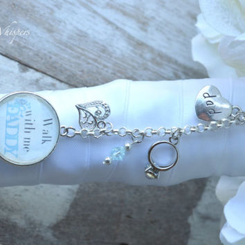 Bridal Bouquet Charm - Something Blue Bouquet Photo Charm - Two Sided Bouquet Charm - Bridal Gift - Wedding Memorial Charm - Bridal Keepsake