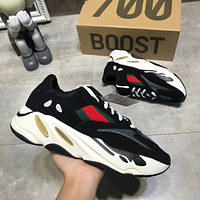 ADIDAS YEEZY 700 Tide brand casual breathable flat bottom couple retro old shoes 4#