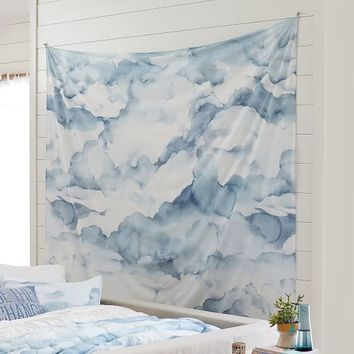 Watercolor Cloud Tapestry