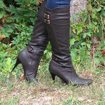 Grey Tall Boots