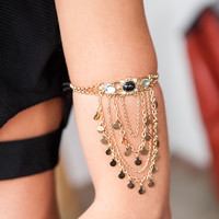 Gold Chain Arm Cuff