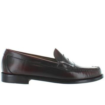 CREYONIG Bass Weejuns Logan - Burgundy Leather Classic Penny Loafer