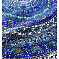 Peacock Elephant Tapestry Hippie Bedspread Bohemian Wall Decor Hanging