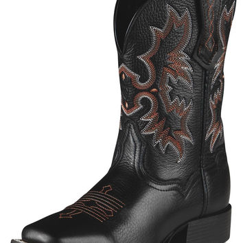 Ariat Youth Tombstone Boots, Black Deertan - 10007845