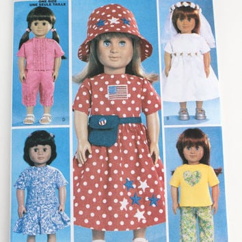 American Girl Doll dress pattern New Butterick five adorable outfits bride 18 inch doll size