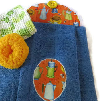 Kitchen Towel Set / Hanging Kitchen Towel Set / Hanging Dish Towel Set / Kitchen Gift Set