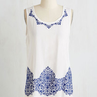 Mid-length Sleeveless Vacation in Versailles Top