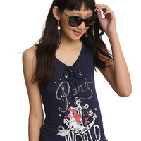 Disney The Little Mermaid Part Of Your World Anchor Ariel Girls Lace Up Tank Top