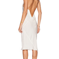 TITANIA INGLIS Plunge Slipdress in White