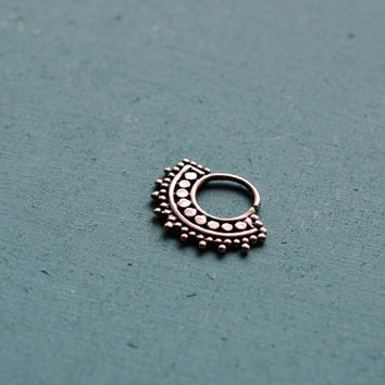 Afghan septum ring for pierced nose / 18g / Ethnic septum / Septum jewelry / Nose jewelry / Tribal body jewelry / Belly dance jewelry