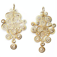 Golden Curls Earrings