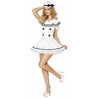Sexy Vintage Sailor Girl Flair Dress Halloween Costume