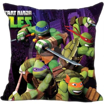 Custom Pillow Case Teenage Mutant Ninja Turtles TMNT Pillowcases zipper 35x35 cm (One side) F922