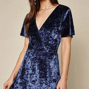 LA Hearts Velvet Wrap Dress at PacSun.com