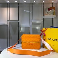 Kuyou Gb29726 Lv Louis Vuitto Monogram Outdoor Denim Bags Orange Messenger Bag M44626 25x20x10.5cm