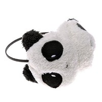 ZLYC Women Cute Panda Shape Cotton Earmuffs White and Black Earwarmer Winter Accessory