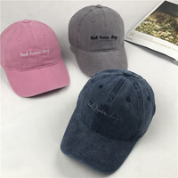 Wash Canvas Embroidery Ventilation Baseball Cap Women Hat