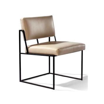 Thayer Coggin Milo Baughman Design Classic Dining Chair- Armless