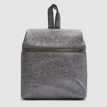 Kara / Crinkled Metallic Small Backpack in Pyrite