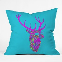 Robert Farkas Party Deer Throw Pillow