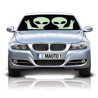 HS (12204) Aliens Double-Sided Car Sunshade