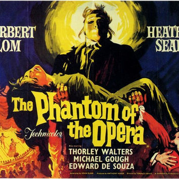 The Phantom of the Opera (Foreign) 11x17 Movie Poster (1962)