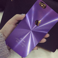 Purple Metal Radiation Case for iPhone 5s 5se 6 6s Plus Gift 322