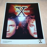 THE X FILES MULDER & SCULLY PHOTO -VINTAGE POSTER STYLE
