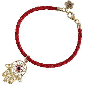 Good Luck Kabbalah Red String of Faith Rope Bracelet with Hamsa Hand - 100% Money Back Guarantee