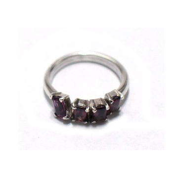 Silver ring, Purple Quartz Rings, handmade ring, accessory