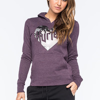 Hurley Love Me Womens Hoodie Plum  In Sizes