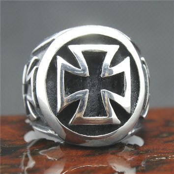 Iron Maltese Cross - Badass Ring