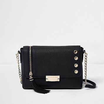 Black tassel chain strap cross body bag - cross body bags - bags / purses - women