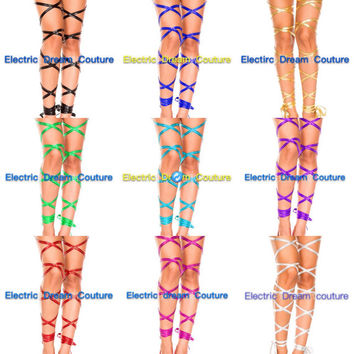 Free Shipping!! Rave leg Wraps,9 Metallic Colors